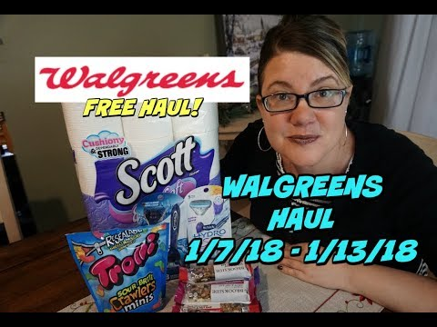 WALGREENS COUPON HAUL 1/7 - 1/13 | ALL FOR FREE!