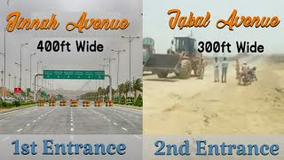 New Entrance Of Bahria Town Karachi From Usmania Redtaurant Super Highway