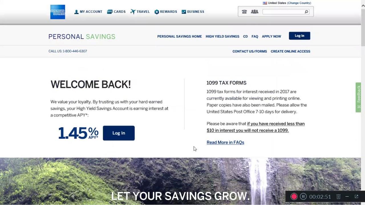American Express Online Savings >> American Express Savings Review Youtube
