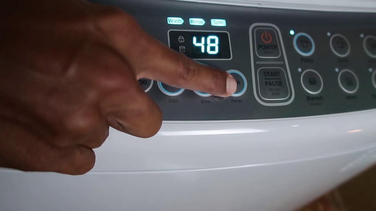 Cara Mudah Mencuci Baju Pake Mesin Cuci Samsung Top Loading Youtube