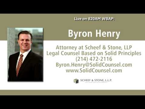 Attorney Byron Henry live on the radio in Dallas/Fort Worth