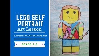 Elementary Art Lesson: Lego Self Portrait