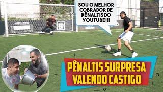 PÊNALTIS SURPRESA COM O MELHOR COBRADOR DE PÊNALTIS DO YOUTUBE! FT. JUKANALHA