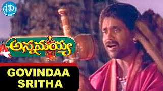 Annamayya Movie Songs || Govindaa Sritha Song || Nagarjuna,Ramya Krishna || Keeravani