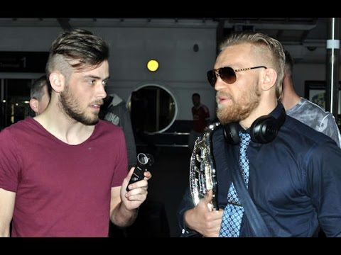 Interview with Conor McGregor upon his arrival back in Ireland