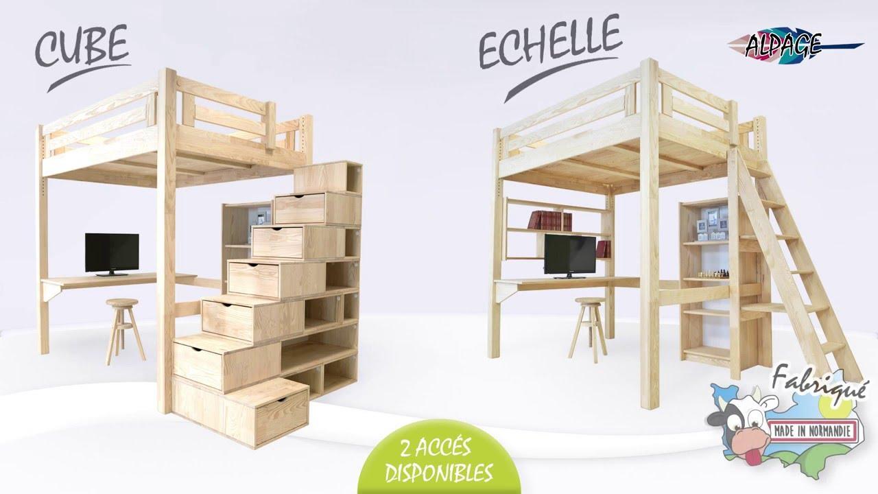 hochbett alpage mit treppe abc meubles