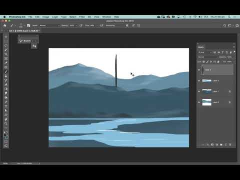 Photoshop Digital landscape painting