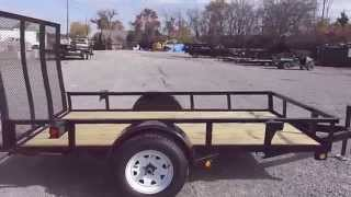 5 x 10 utility trailer tall spring assist a frame gate w spare tire holder