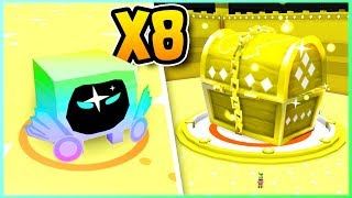 8 Gold Dominus Huge VS Gold Chest! Pet Simulator | Roblox