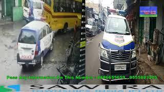 live Road Accident Rain Bazar PS Petroling Car  hyderabad CCTV camera old woman dead