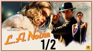 L.A. Noire 1/2 - All Cutscenes (Game Movie) 1080p HD