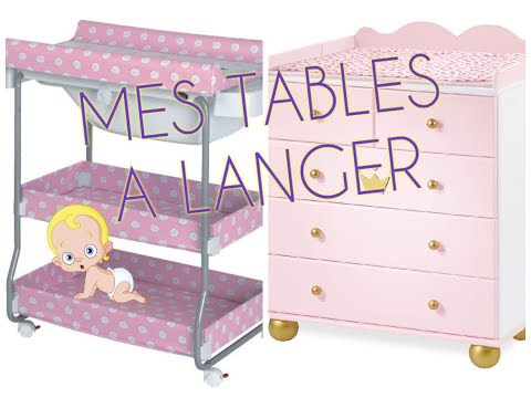 ORGANISATION DE MES TABLES A LANGER - BABY BOO