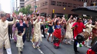 Shriver & Atluri Wedding Baraat (Part 2), Philadelphia, PA. Market Street
