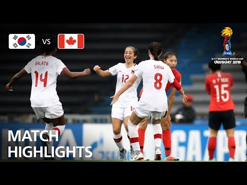 Korea Republic v Canada- FIFA U-17 Women's World Cup 2018™ - Group D