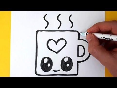 Sevimli Bardak Çizimi❤ Bardak Nasıl Çizilir-Kolay Bardak Çizimi-Çiz ve Boya!!!