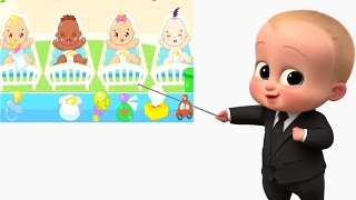 The baby boss. Look after and take care of 4 children. Children's cartoons for kids