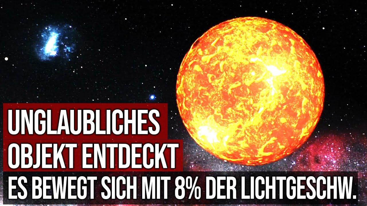 Unglaubliches Objekt entdeckt - Es bewegt sich mit 8% der Lichtgeschwindigkeit