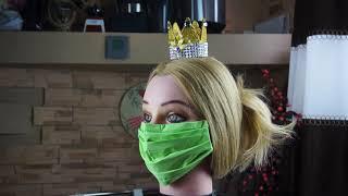 Как сделать маску для лица Медицинская маска для лица своими руками Просто DIY MAKE A FACE MASK