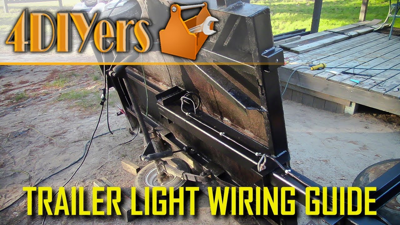 How To Wire Trailer Lights Made Easy Youtube Light Wiring