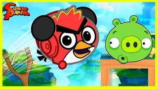 Combo Panda gets ANGRY playing ANGRY BIRDS 2 Let's Play App Game!