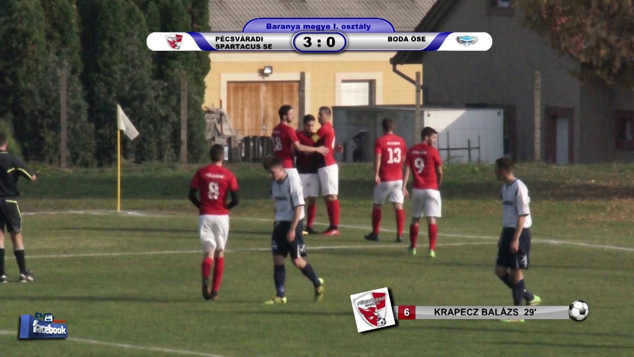 PÉCSVÁRADI SPARTACUS SE - BODA ÖSE   7 - 0 (3 - 0)