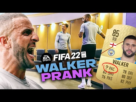 WHO'S PUT THAT ON MY PACE!?   KYLE WALKER FIFA22 PRANK   MAN CITY