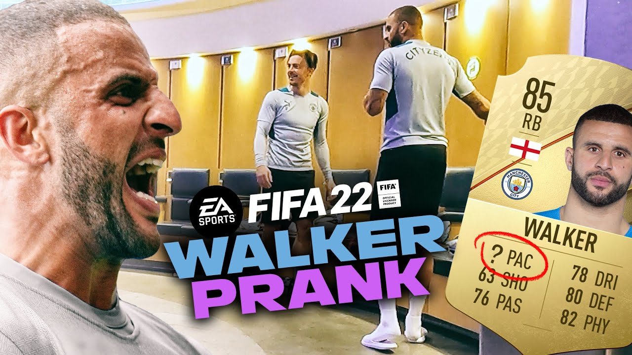 FIFA22: WHO'S PUT THAT ON MY PACE!? | KYLE WALKER FIFA22 PRANK | MAN CITY
