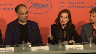 Cannes: Sachs, Huppert give presser on film 'Frankie'