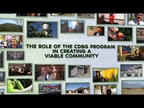 The Role of the CDBG Program in Creating a Viable Community