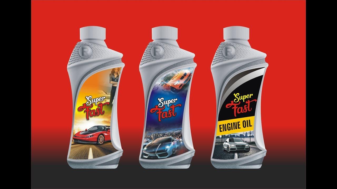 Realistic Engine Oil Bottle Design | Coreldraw Tutorial - YouTube