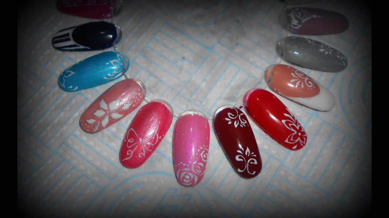 Idee nail art in gel semplici e veloci , Simple gel nail art tutorial