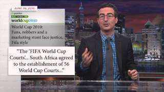 FIFA and the World Cup: Last Week Tonight with John Oliver (HBO)(John Oliver's excitement for the World Cup is tempered by knowing information about FIFA, the organization that produces it. John details the problems with the ..., 2014-06-09T06:30:01.000Z)