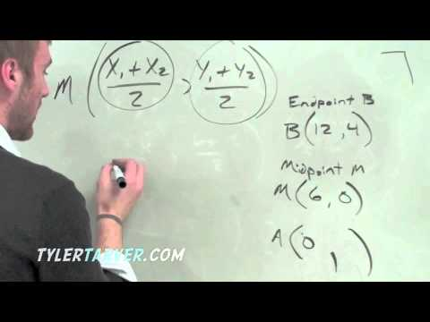 How to do the Midpoint Formula and How to find an Endpoint with an Endpoint and Midpoint