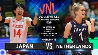 Japan vs Netherlands | Highlights | Women's VNL 2019