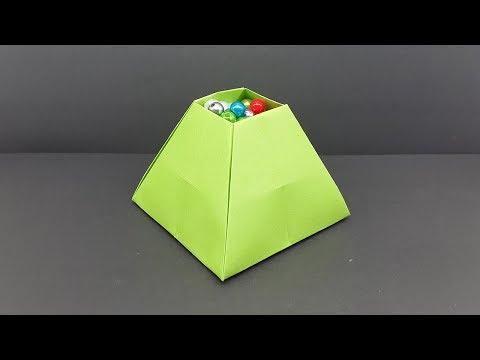 How To Make a Paper Pyramid Box - Paper Craft Idea
