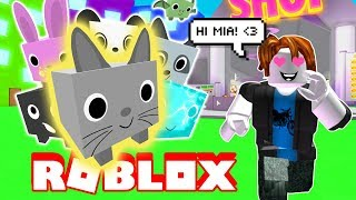 GETTING MY FIRST PET IN ROBLOX! First Time Playing And I Love It??? Pet Simulator!