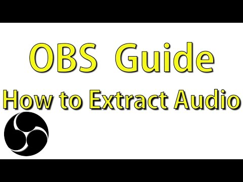 How to Extract MP4 Audio - OBS Multiplatform