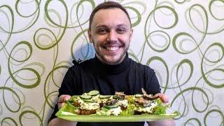 Праздничные бутерброды со шпротами - вкусная закуска на стол
