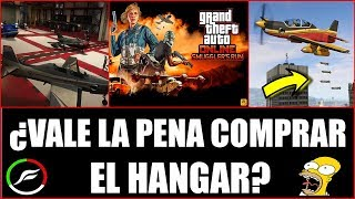 GTA 5 ¿VALE LA PENA COMPRAR EL HANGAR? - GTA V DLC SMUGGLER'S RUN
