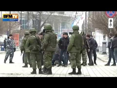 Ukraine, Crimea Gunshots On BFMTV Live 03/03