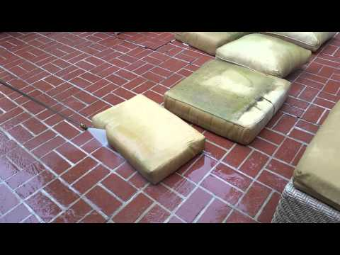 How To Clean Your Patio Cushions Youtube