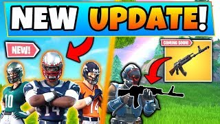 Fortnite Update: NEW FOOTBALL SKINS + HEAVY ASSAULT RIFLE! - 7 New Things Coming to Battle Royale!