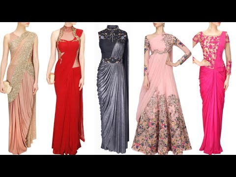 Top beautiful Saree Gown designs for Indian wedding🎀🎀