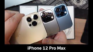 แกะกล่อง iPhone 12 Pro Max เทียบกัน 3 สี Gold | Graphite