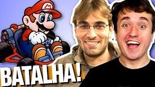 BATALHA CLÁSSICA! - Super Mario Kart com Brksedu