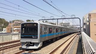 小田急1000形1081F(未リニューアル8連・GTO-VVVF) 梅ヶ丘発車