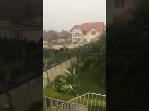 Rainy season in Beni DR Congo