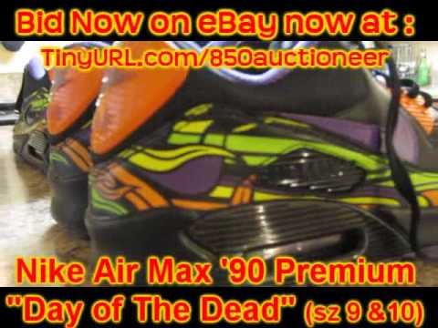 Nike Air Max 90 Premium Day Of The Dead For Sale eBay Auction - YouTube 162d5c6b18cf