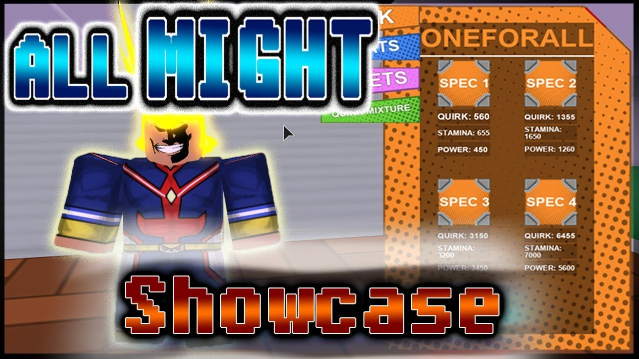 Mha Plus Ultra One For All Showcase Review All Moves Youtube