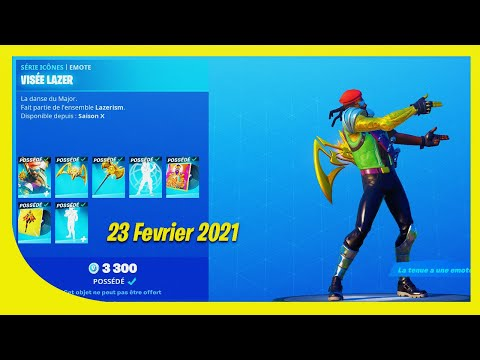 BOUTIQUE FORTNITE du 23 Avril 2021 ! ITEM SHOP April 23 2021 !